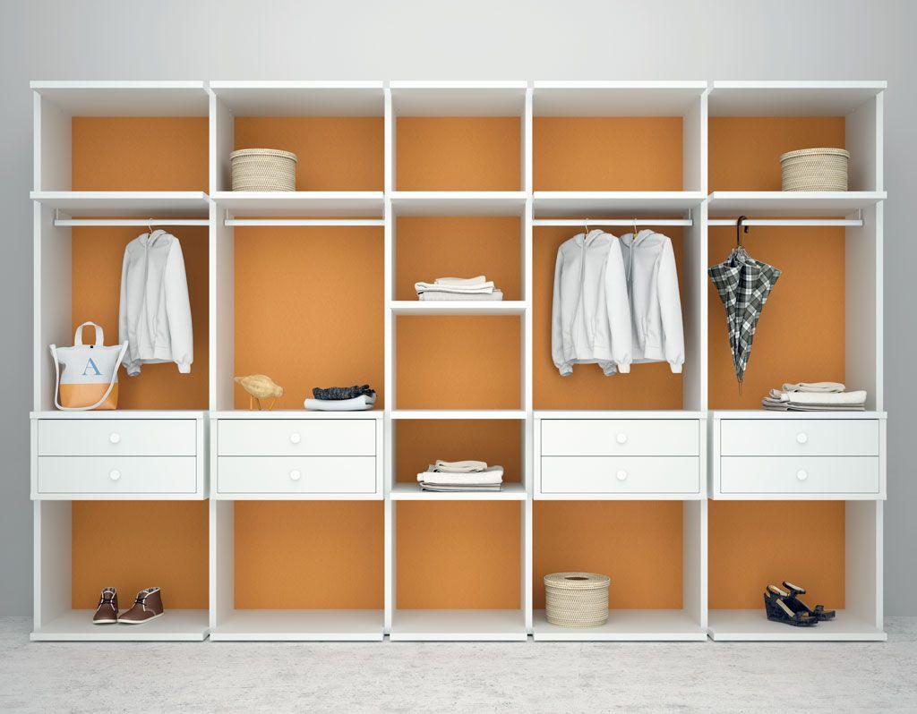 Armario vestidor closet color blanco tu tienda de for Armario de dormitorio blanco barato